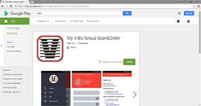 My VIBU Group Scan&Order